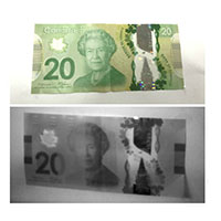 SWIR Paper Currency Recognition CAD