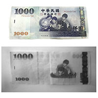 SWIR Paper Currency Recognition TWD